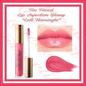 🆕 NIB Too Faced Lets Flamingle Plumping LipGloss